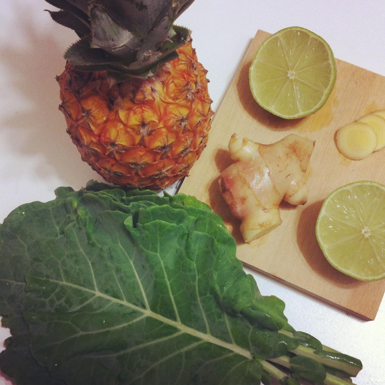 Receita Suco De Abacaxi Couve E Gengibre Detox Mercadodosorganicos